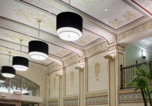 Lobby lights.