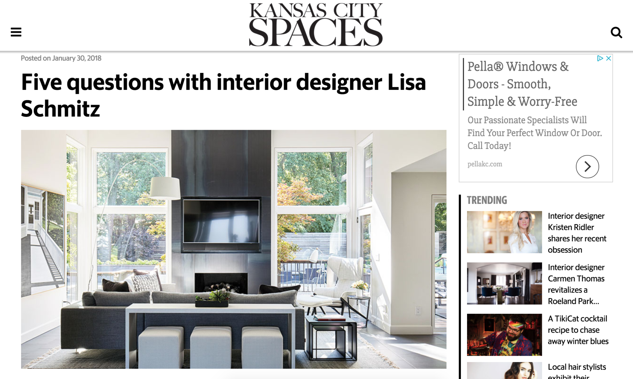 Spaces Kc Interview With Lisa Lisa Schmitz Interior Design